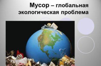 Глобальная экологическая проблема мусора и отходов в современном мире