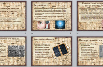 Учебный проект Носители информации:прошлое, настоящие, будущее —