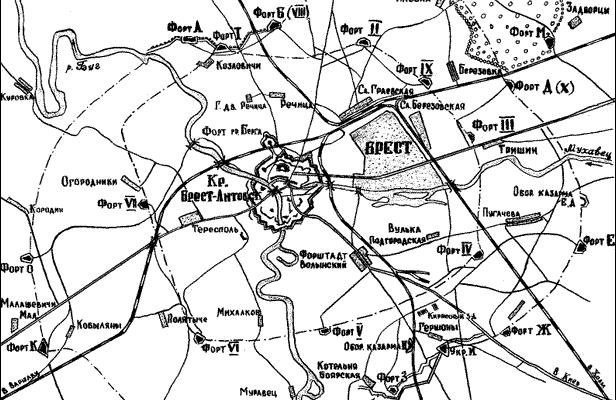 Реферат: Оборона Брестской крепости